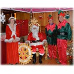 Christmas Grotto - Mother and Father Christmas and Elves