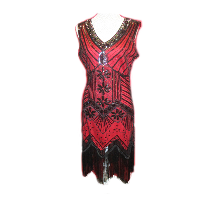 1920s Red Sequin Dress