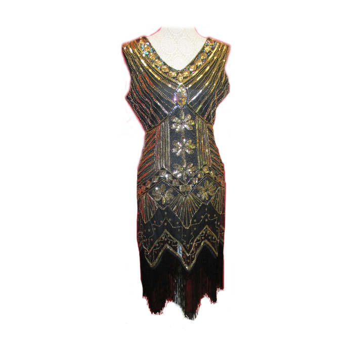 1920s Gold Sequin Dress