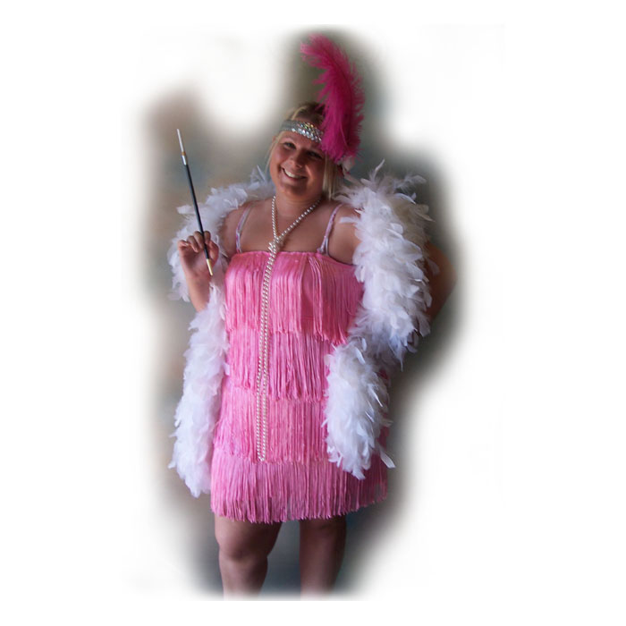 Plus Size Short Flapper