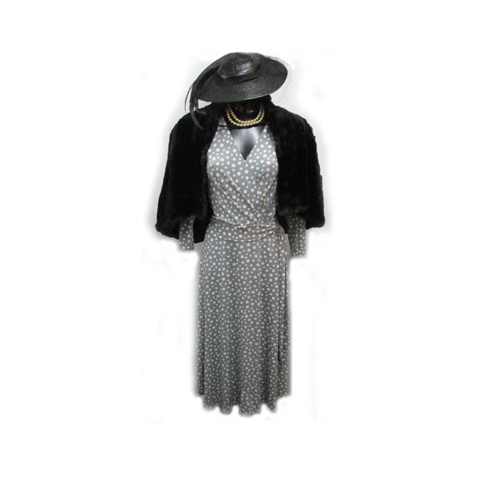 Grey Spot Dress