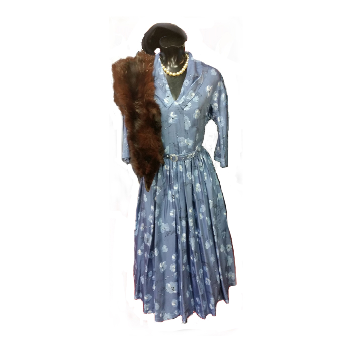 Day dress fur and hat