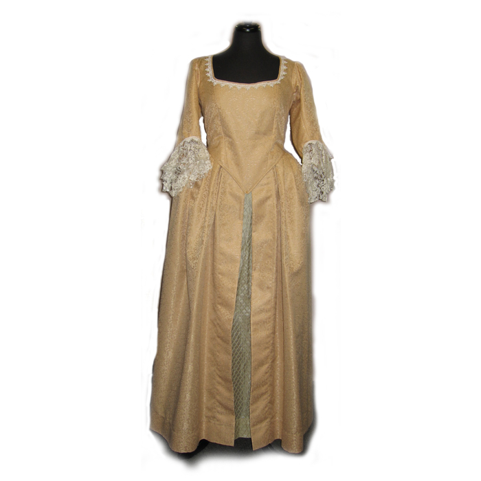 Gold Georgian Dress