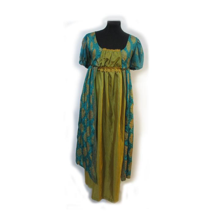 Turquoise Regency Dress
